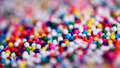 partículas colores bolas