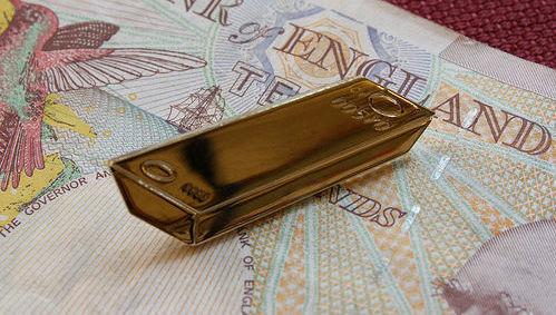 Banco de Inglaterra, BoE, libra, oro, lingote