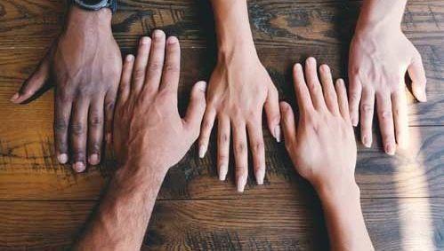 igualdad, manos, derechos