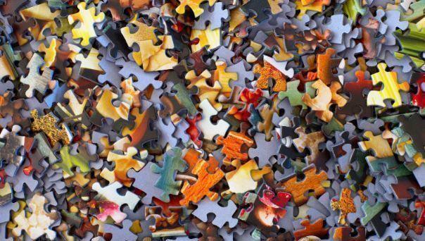 puzzle, cartera, factores