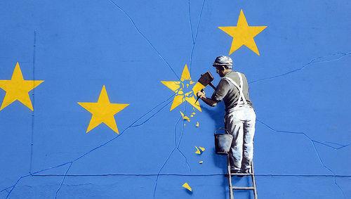 Unión Europea, UE, Brexit, riesgo político, Banksy