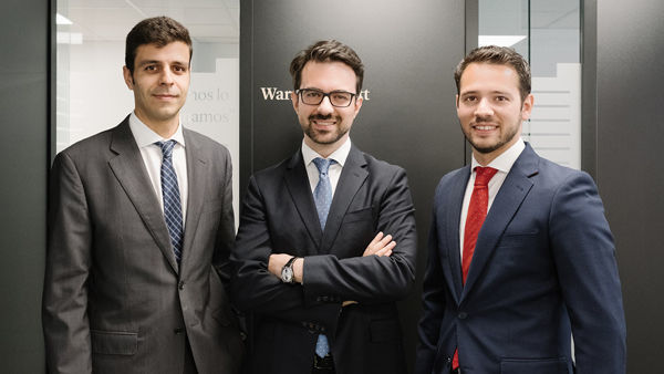 Miguel Rodríguez, Javier Ruiz y Alejandro Martín