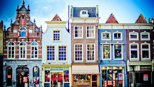 Holanda, casas, color, elecciones