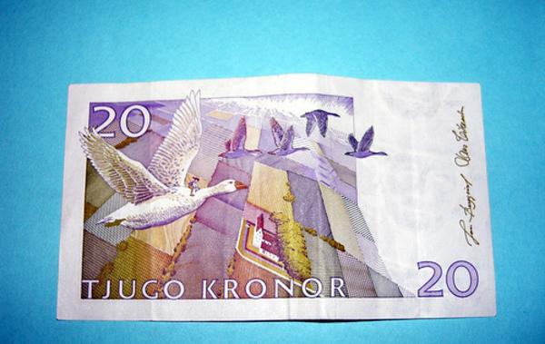 Suecia, corona sueca, banco central, dinero, billete