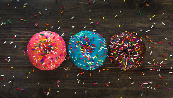 donuts, tres, colores