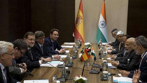 Rajoy, Modi, India, España