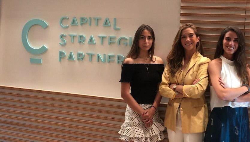 Ángela Mingo, Isabel Campillo y Paloma Vega (Capital Strategies)
