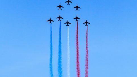 aviones, Estados Unidos, EEUU, bandera, alcista