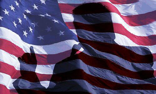 EE.UU., Estados Unidos, bandera, sombra, Trump
