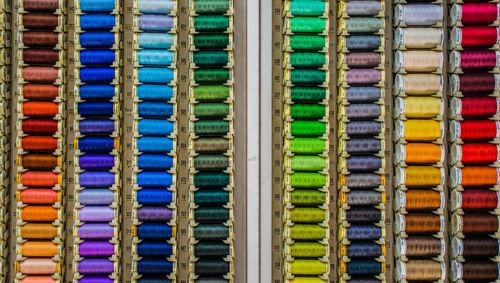ordenar, hilos, colores