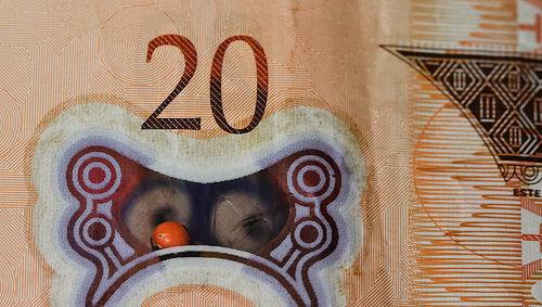 20, veinte, billete