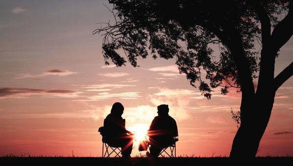 Pensiones puesta de sol