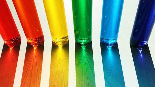 liquidez colores vasos