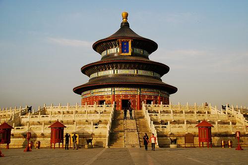 China, emergente, Asia, templo