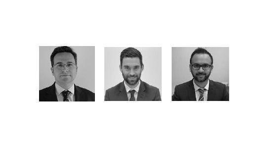 César Muro, Jamie Hartley y Bhaven Patel (DWS)