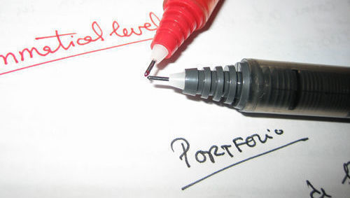 Bolígrafo rojo