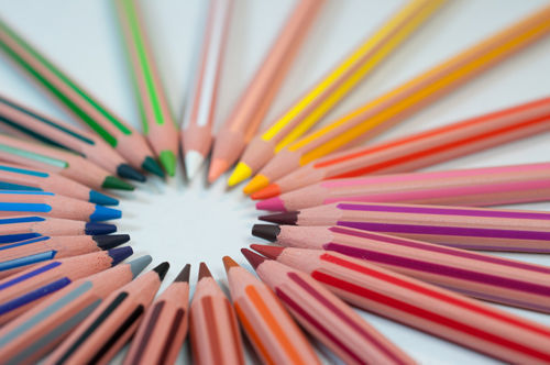 selectores, lápices