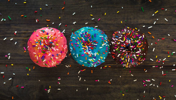 donuts, tres, colores
