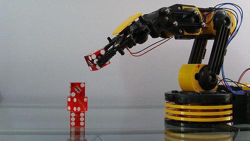 Robot, robótica, tecnología, dados