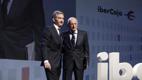 José Luis Aguirre y Víctor Iglesias, presidente y consejero delegado de Ibercaja Banco
