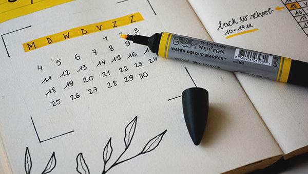 Calendario, fecha, subrayador, cumplimiento, legal
