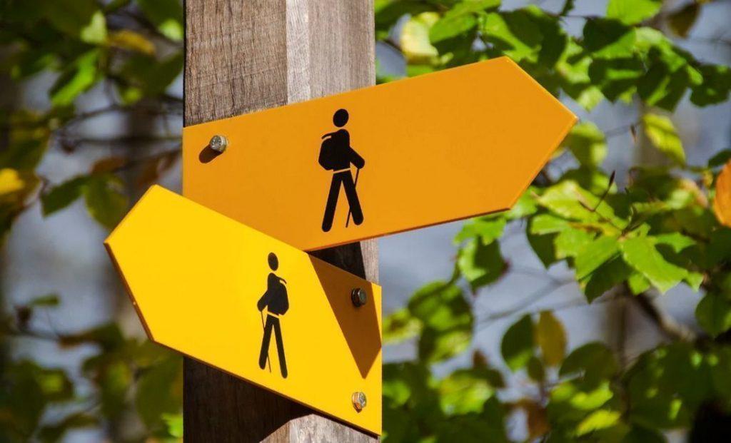 Señales señal caminante