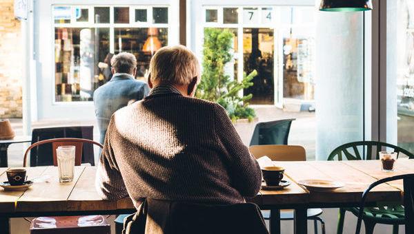 Pensiones Jubilación Café Anciano