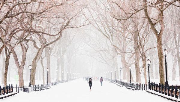 nieve Nueva York