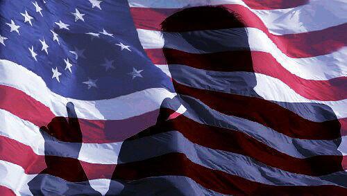 EEUU, Estados Unidos, bandera, sombra, Trump