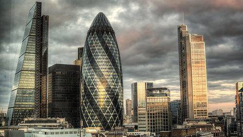 Londres, City, rascacielos, industria, gestión activos