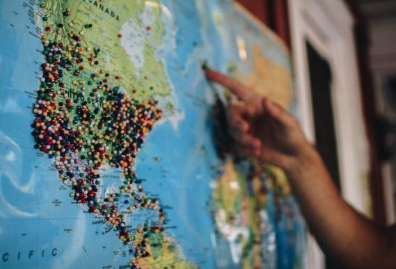 Mapa, Latinoamerica, Emergentes