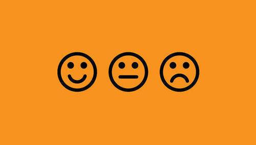 Emoticonos feliz y triste