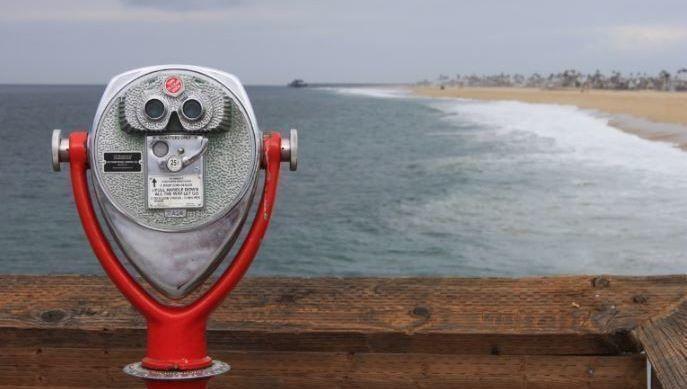 prismáticos, análisis, playa