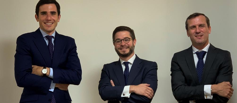 Álvaro Menéndez, Jaime Aguilar y Javier Alonso, socios de Abante