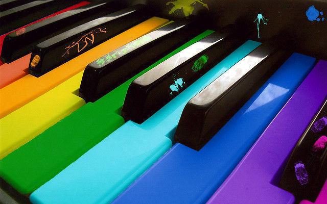 cor, piano, tinta