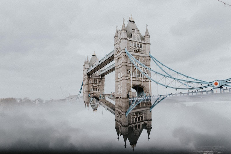 london foggy day Brexit Londres