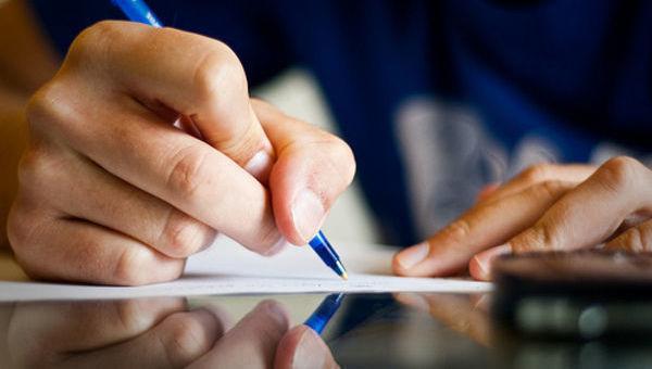 caneta, escrever, assinar