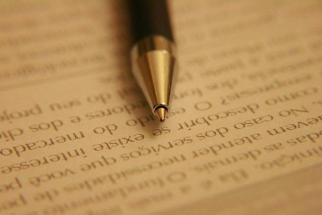 Documento Caneta Assinar Escrever