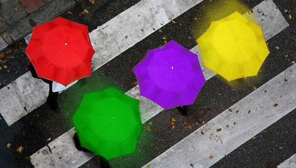 guarda-chuva, cor