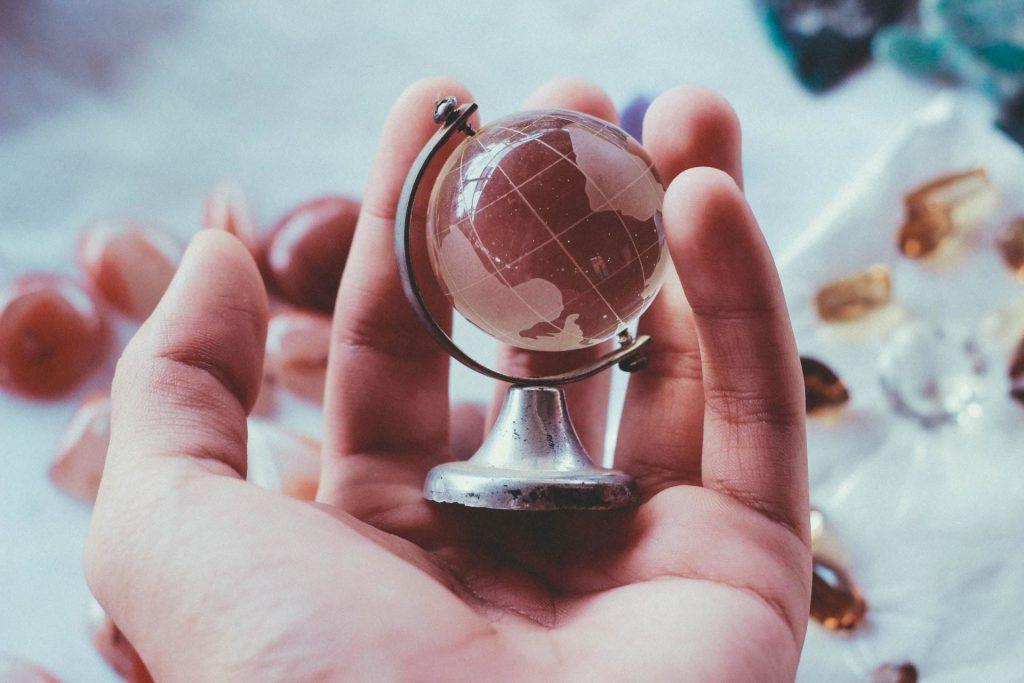 globo mundo mundial global mão