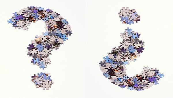 puzzle, pergunta, azul, questão, dúvida