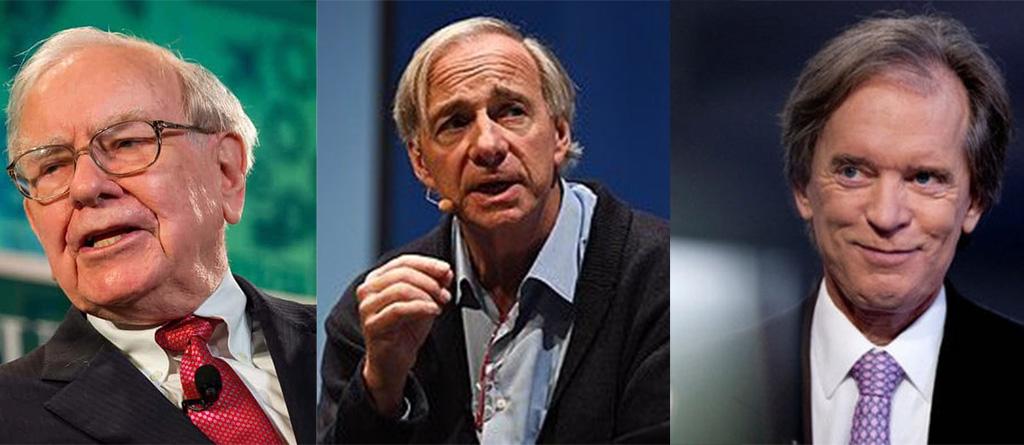 Warren Buffett, Ray Dalio e Bill Gross noticia