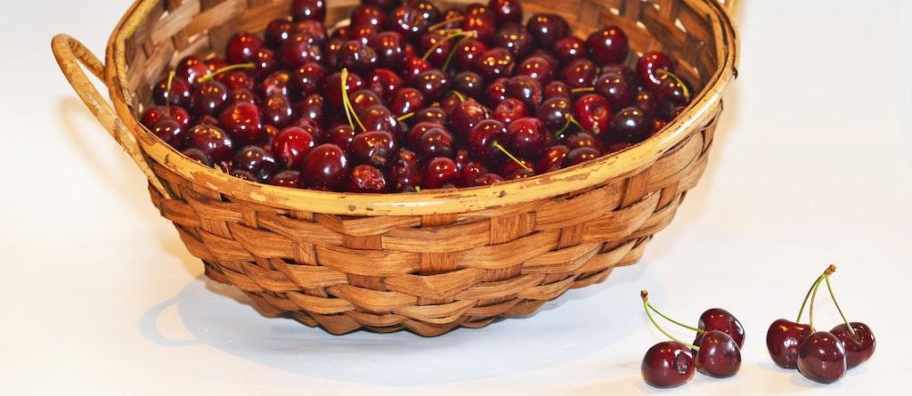 Cesto Cor ETF cabaz cerejas vermelho basket