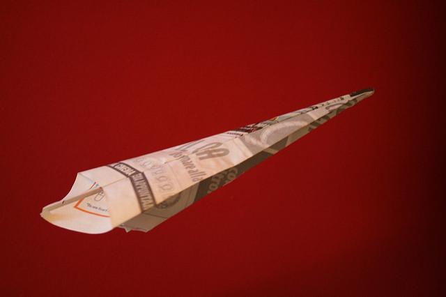 lancio aereo carta